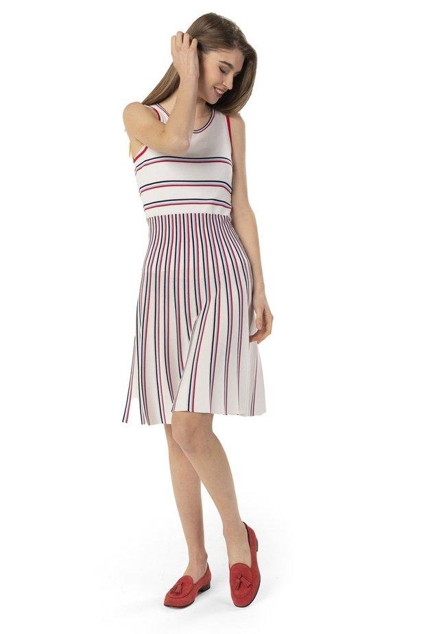 Gebreide jurk - bianco