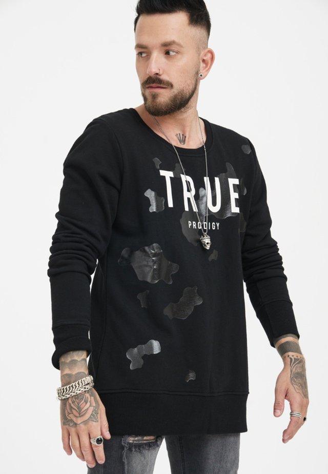 MIT GROSSEM MARKENPRINT - Sweatshirt - black