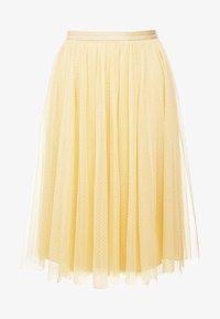 MIDI SKIRT - A-line skirt - washed yellow