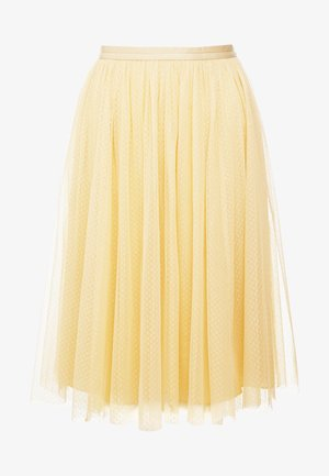 MIDI SKIRT - Spódnica trapezowa - washed yellow
