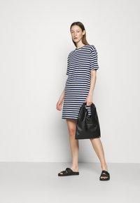 rag & bone - THE SLUB DRESS LABEL - Jersey dress - white/blue - 1