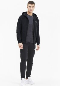 Puma - EVOSTRIPE HOODIE - veste en sweat zippée - black - 1
