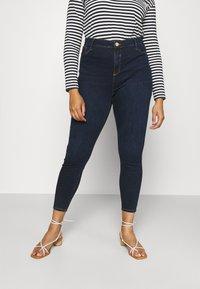 River Island Plus - Jeans Skinny Fit - dark auth - 0