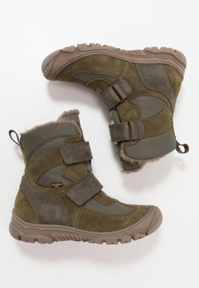 LINZ TEX MEDIUM FIT - Zimní obuv - dark green