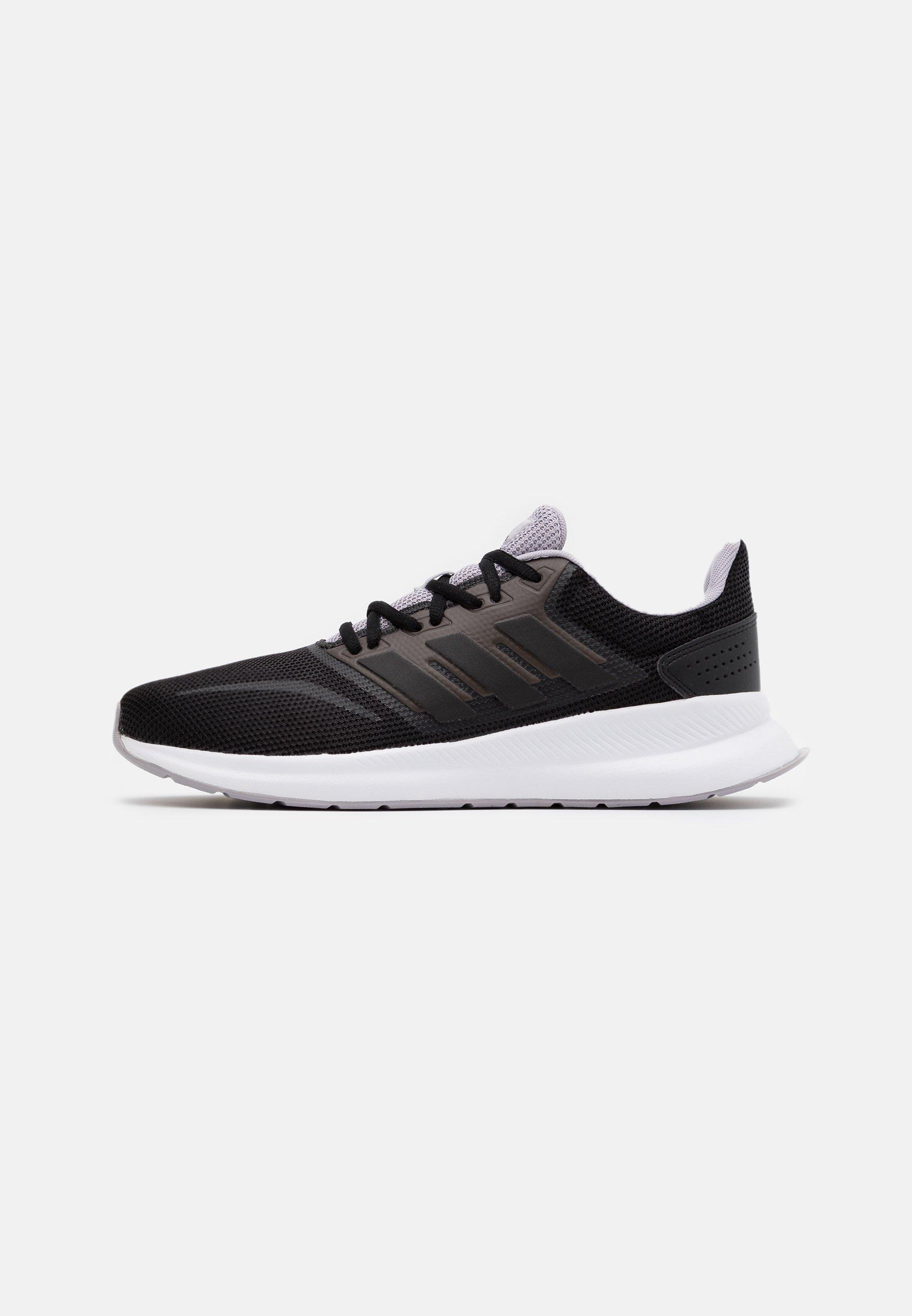 Adidas Performance Runfalcon Classic Sports Running Shoes Laufschuh Neutral Core Black Glow Grey Schwarz Zalando De
