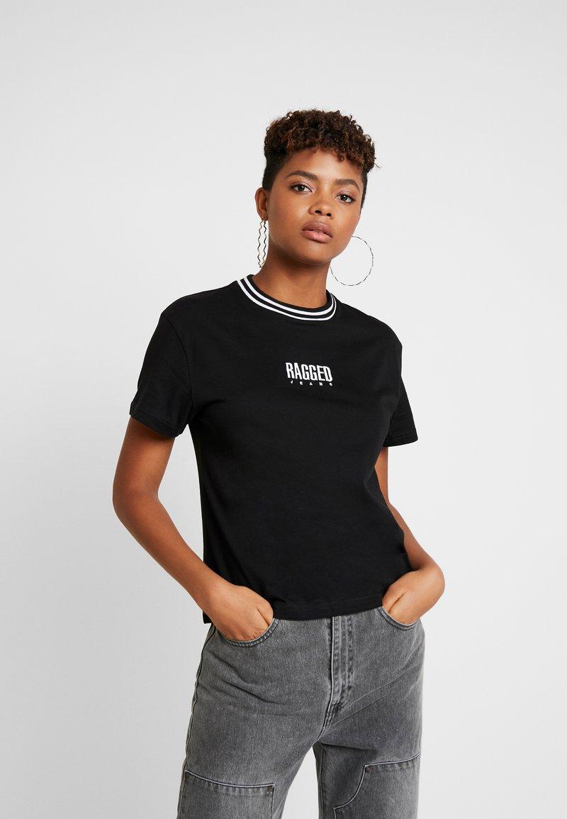 Ragged Jeans - GAIN TEE - T-shirt print - black/white