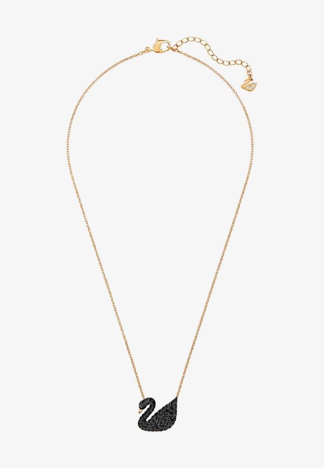 ICONIC SWAN PENDANT  - Ketting - rosegold-coloured/black