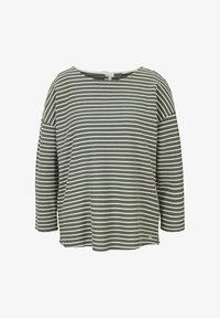TOM TAILOR DENIM - Long sleeved top - pine green melange stripe - 3