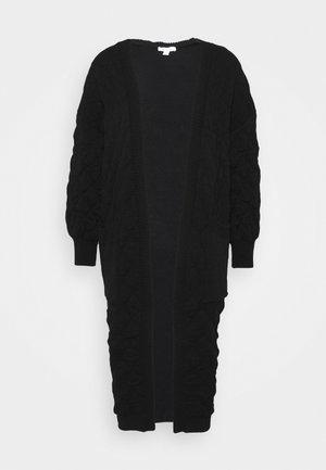 QUILTED CARDI - Cardigan - black