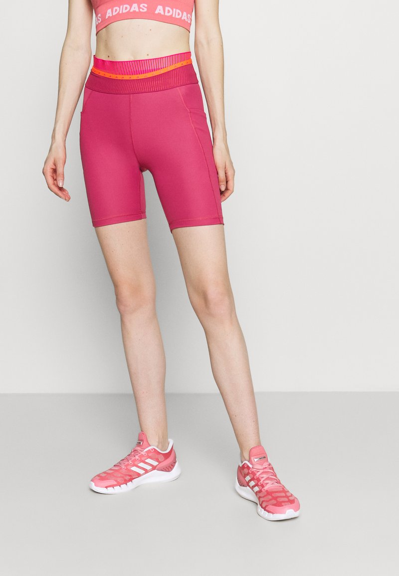 adidas Performance - TECHFIT HIGH-RISE TIGHTS - Tights - berry