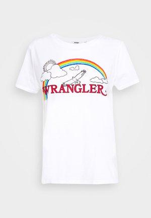 RAINBOW REGULAR - Print T-shirt - true white