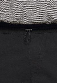 Topman - WEBBING - Cargo trousers - black - 4