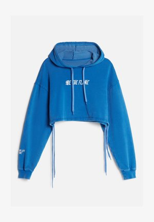CROPPED - Hoodie - light blue