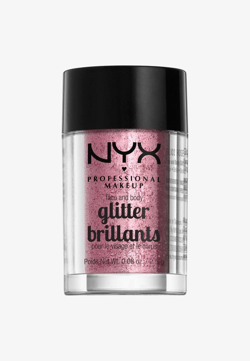 Nyx Professional Makeup - FACE & BODY GLITTER - Glitzer - 2 rose