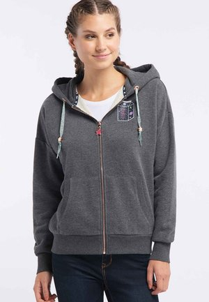 Zip-up sweatshirt - anthrazit melange