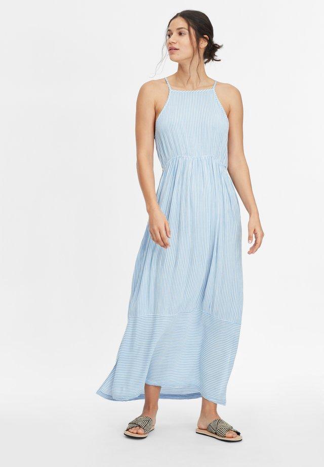 Maxi-jurk - blue with white