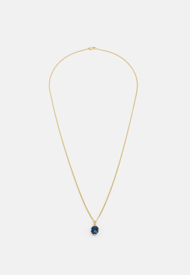 PORTAN PENDANT NECKLACE - Ketting - gold-coloured/blue