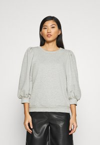 Gestuz - NANKITA - Sweatshirt - grey melange - 0