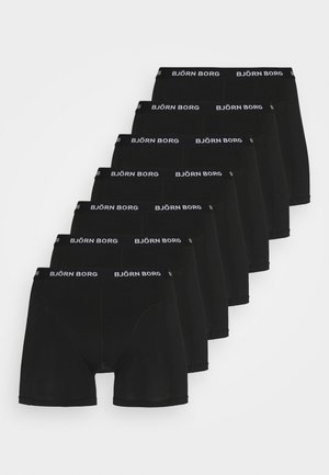 ESSENTIAL BOXER 7 PACK - Underkläder - black