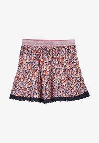 s.Oliver - A-line skirt - blue floral print - 0