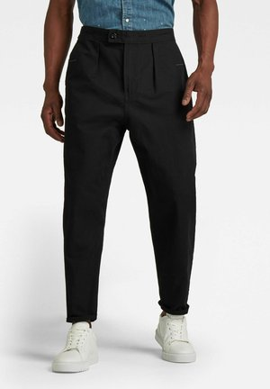 RELAXED WORKER CHINO - Stoffhose - dk black