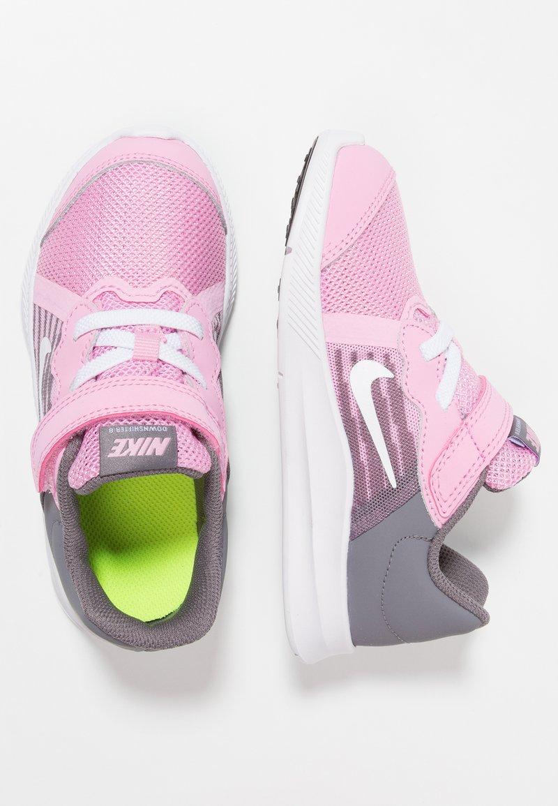 Nike Performance - DOWNSHIFTER 8 - Sports shoes - pink rise/white/gunsmoke/black