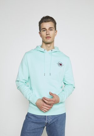 CIRCLE CHEST HOODY - Sweat à capuche - miami aqua