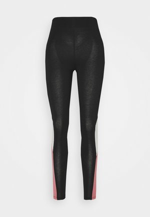 ONPOLLI LIFE LEGGINGS - Leggings - black/mesa rose/white melange