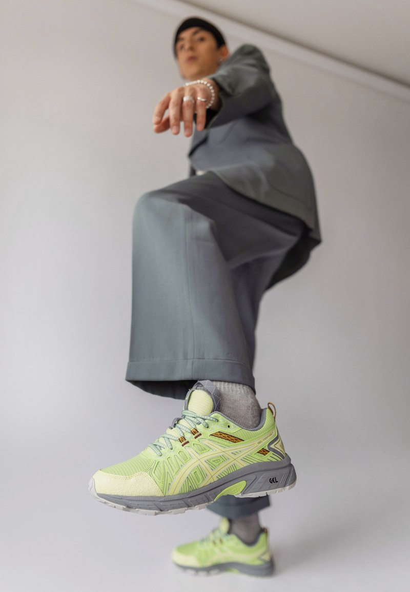 ASICS SportStyle - HN1-S GEL-VENTURE™ 7 - Trainers - lime green/huddle yellow