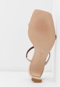 ALOHAS - CANNES - Heeled mules - beige - 6