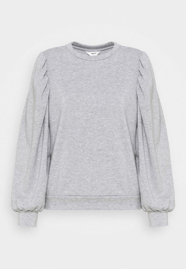 OBJMAJA PULLOVER - Sweatshirt - light grey melange