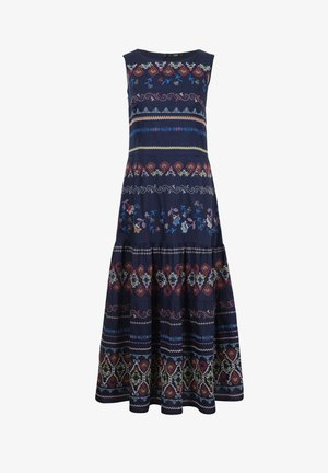 EMBROIDERED  - Maxi dress - marine