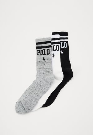 3 PACK - Ponožky - white/grey/black