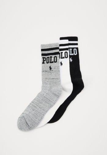 3 PACK - Socks - white/grey/black