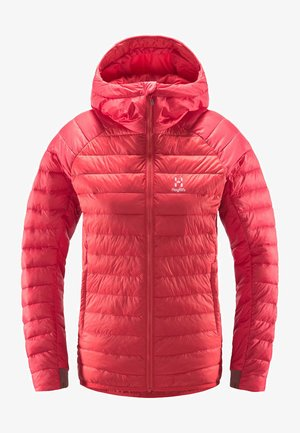 Winter jacket - hibiscus red