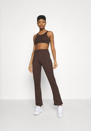 SET - Leggings - Trousers - brown