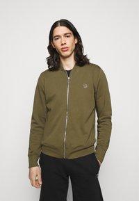 PS Paul Smith - MENS ZIP BOMBER - Zip-up sweatshirt - khaki - 0