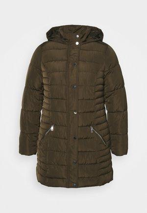 HODDED - Classic coat - khaki