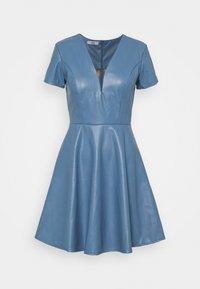 WAL G. - FLARE SKATER DRESS - Denní šaty - steel blue - 0