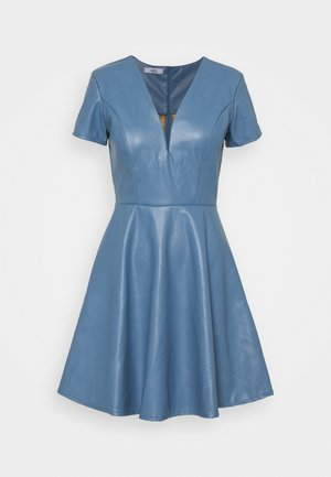 FLARE SKATER DRESS - Day dress - steel blue