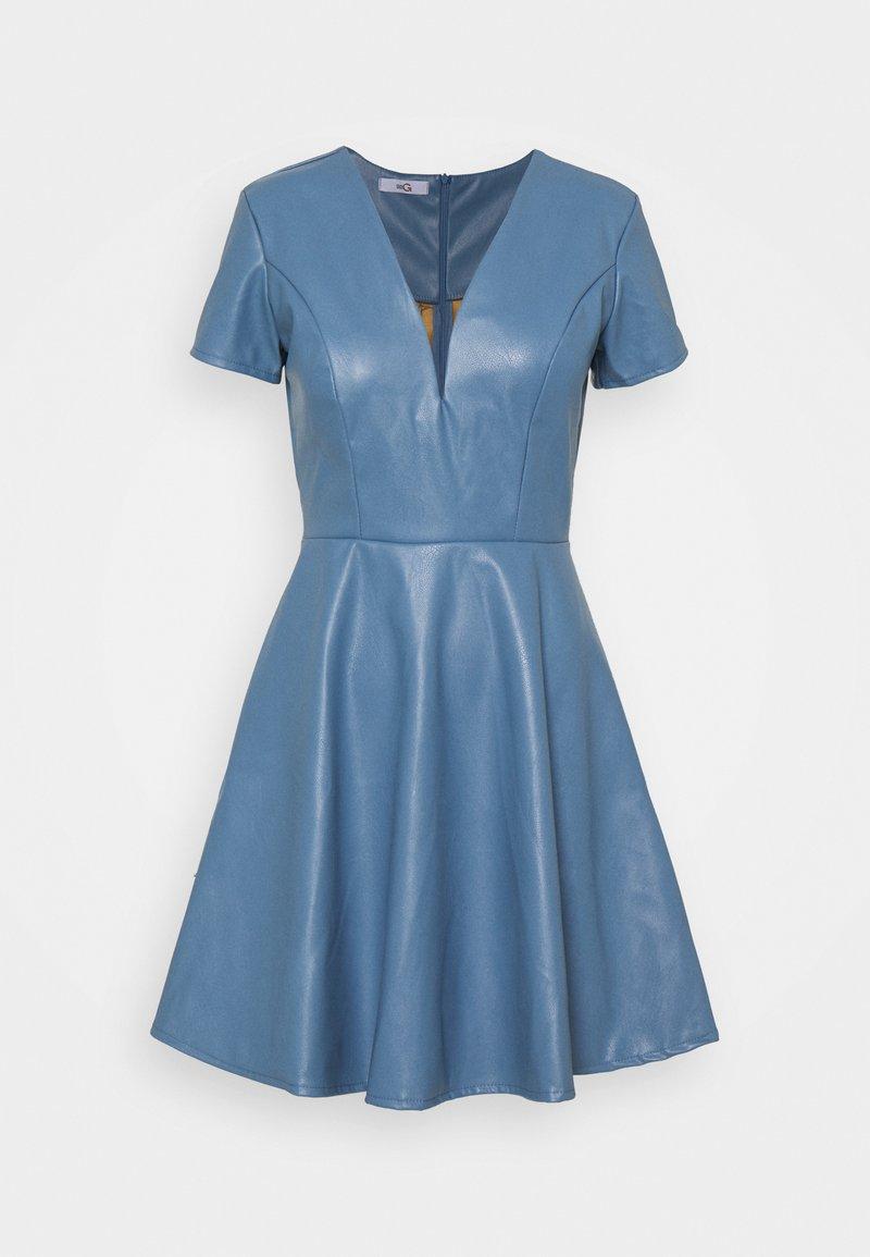 WAL G. - FLARE SKATER DRESS - Denní šaty - steel blue