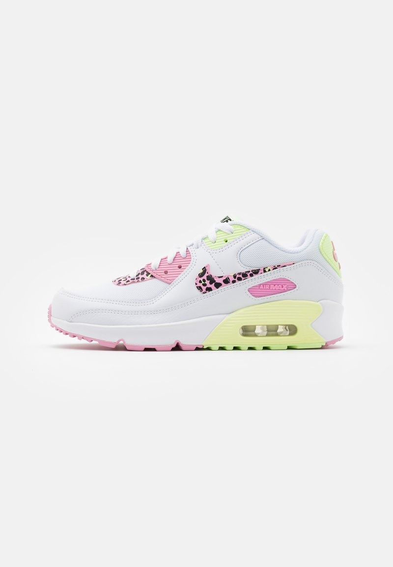 Nike Sportswear - AIR MAX 90 - Trainers - white/pink rise/pink rise/barely volt/black