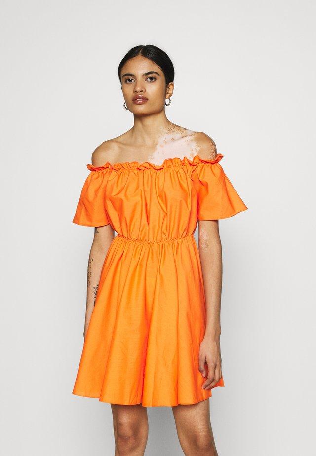 BARDOT SKATER DRESS - Day dress - orange