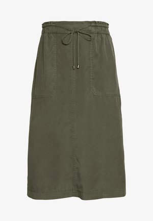 SKIRT STRAIGHT SHAPE SIDE SLITS - A-line skirt - soaked moss