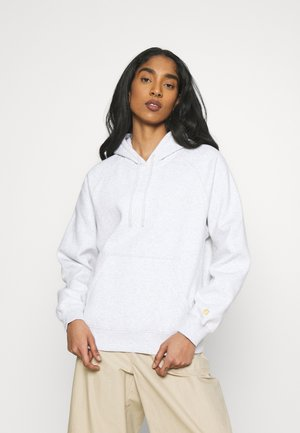 HOODED CHASE  - Hoodie - ash heather/gold