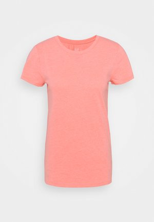 CREW - Basic T-shirt - coral reef neon