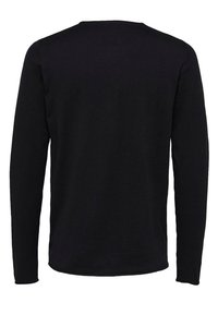 Selected Homme - SLHDOME CREW NECK - Jumper - black - 1