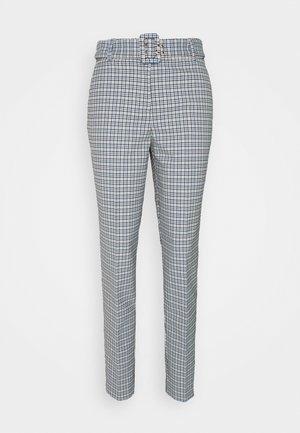 CHECK PANT - Spodnie materiałowe - light blue