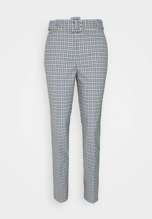 CHECK PANT - Kalhoty - light blue