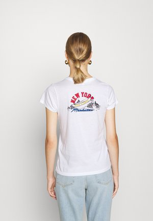 HOT DOG TEE LABEL - Print T-shirt - white
